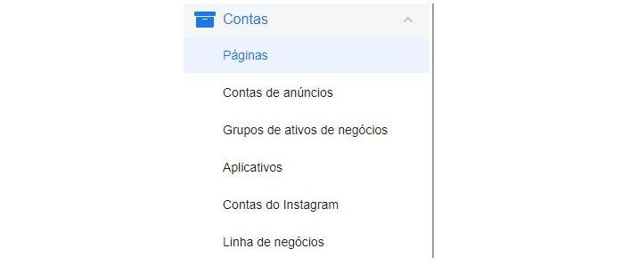 Gerenciador de negócios do Facebook: imagem da ferramenta