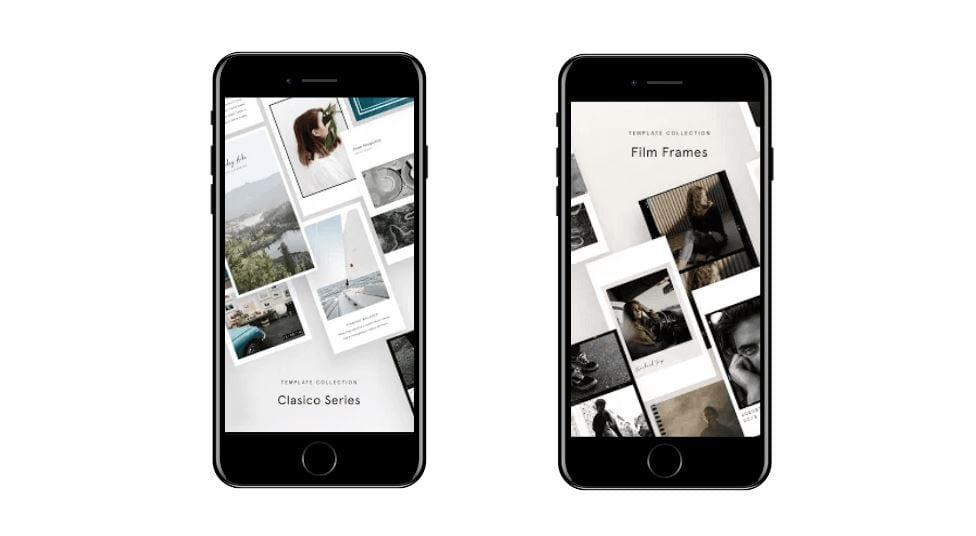 Aplicativos para Instagram: imagem da tela do app Unfold.