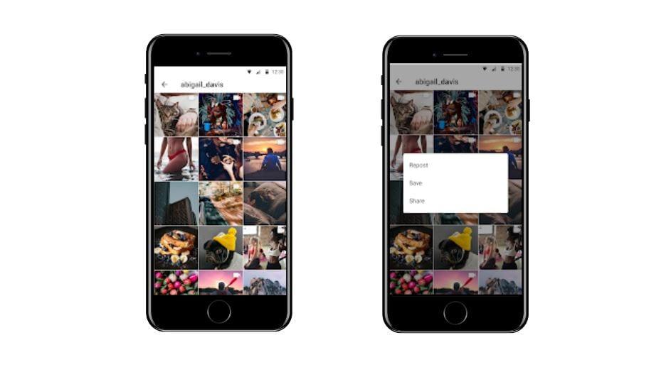 Aplicativos para Instagram: imagem da tela do app Storysaver