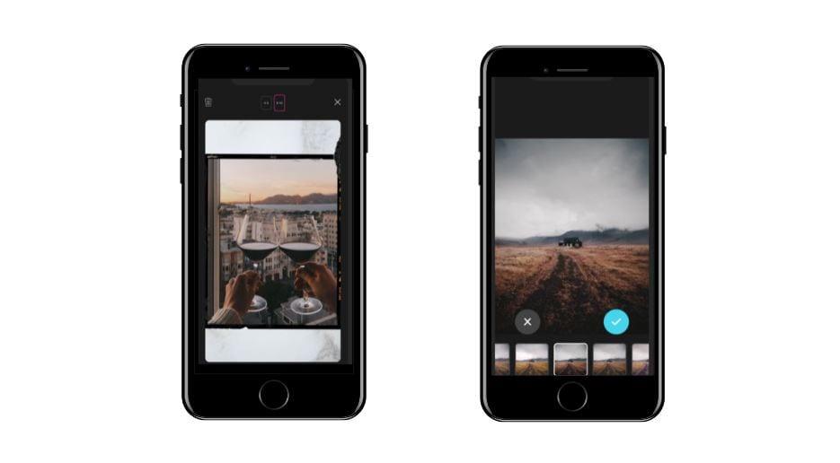 Aplicativos para Instagram: imagem da tela do app Storyluxe
