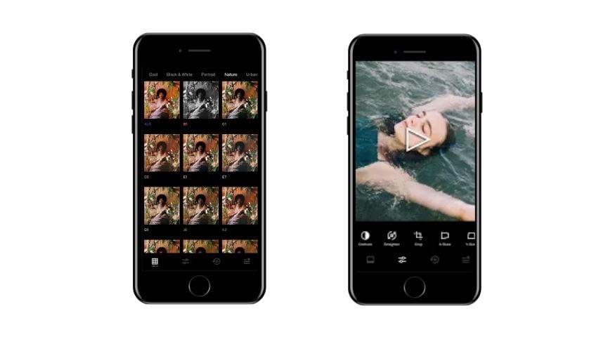 Aplicativos para Instagram: imagem da tela do app VSCO