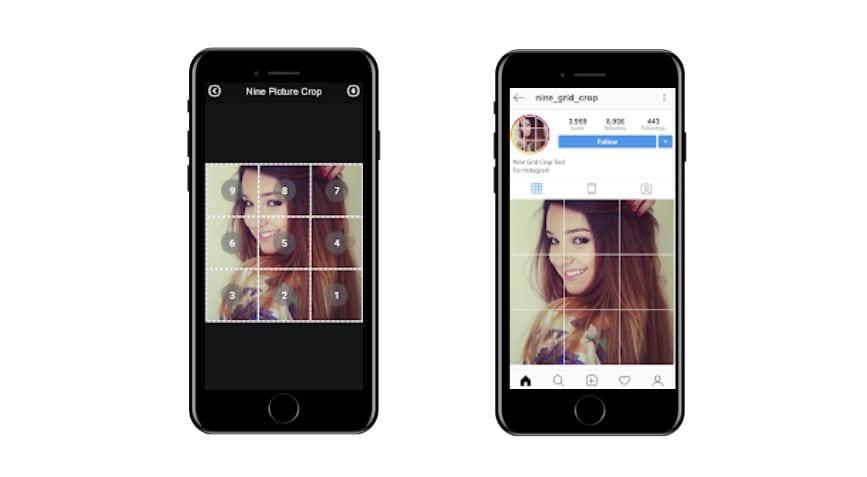Aplicativos para Instagram: imagem da tela do app Instagrid