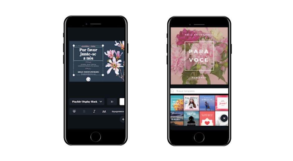 Aplicativos para Instagram: imagem da tela do app Canva