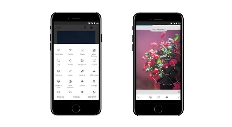 Aplicativos para Instagram: imagem da tela do app Snapseed