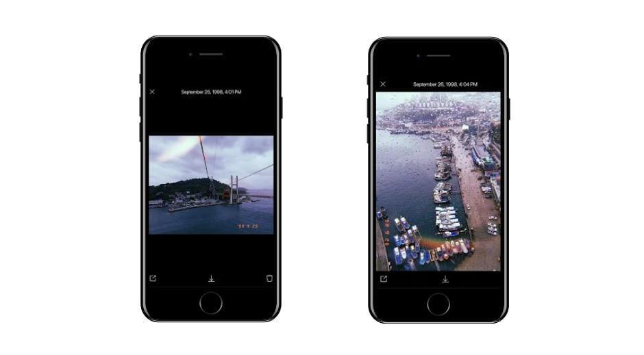 Aplicativos para Instagram: imagem da tela do app Huji Cam
