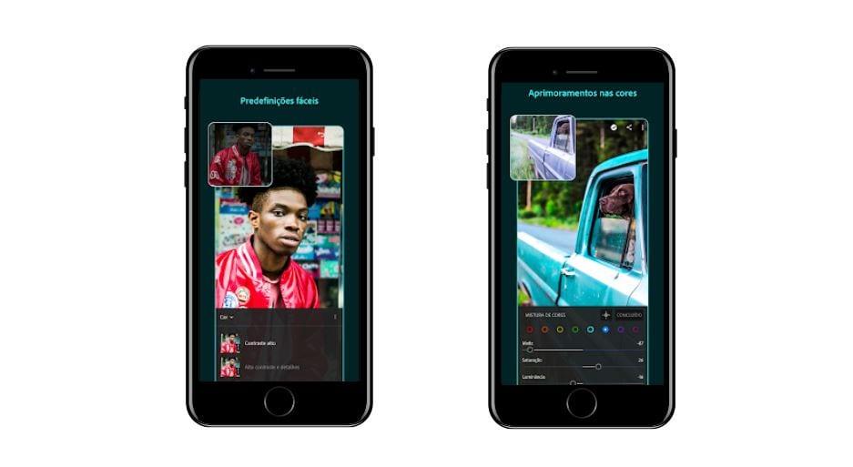 Aplicativos para Instagram: imagem da tela do app Lightroom