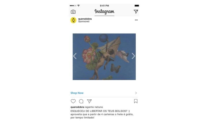 Remarketing no Instagram: imagem de um post da marca Dobra