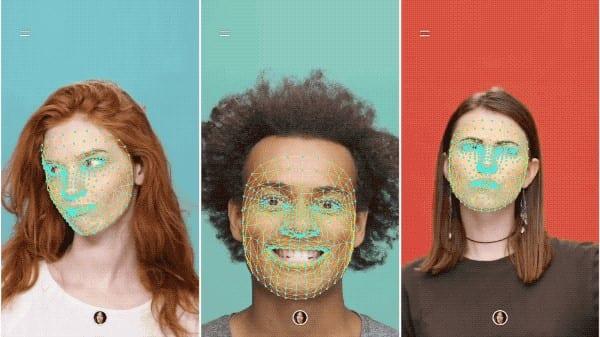 YouTube Stories: imagem do rosto de três pessoas com filtro do YouTube Stories.