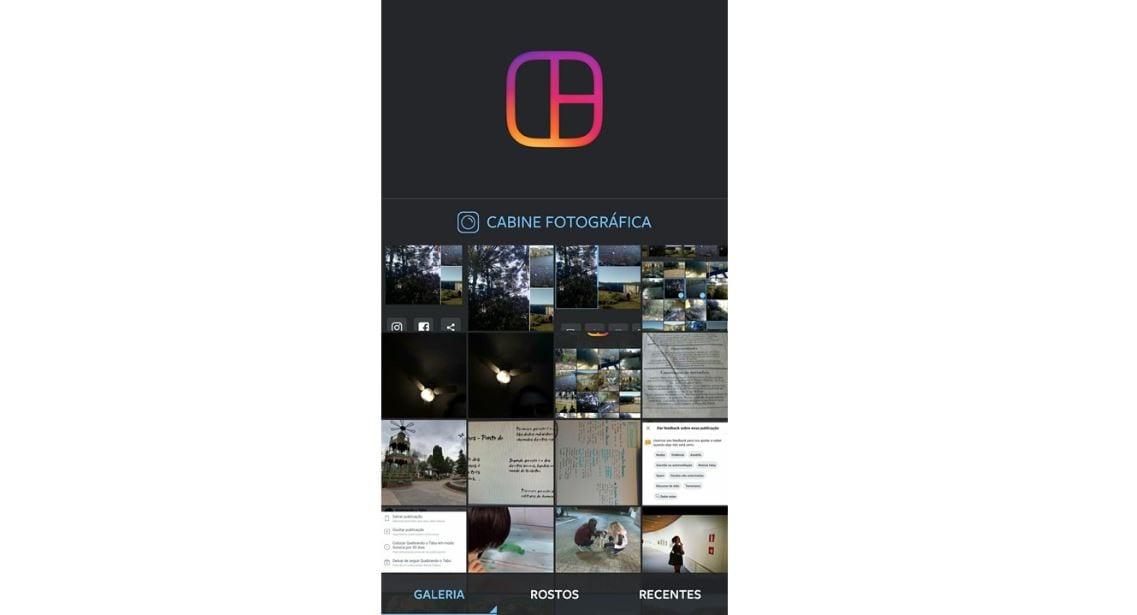 Layout para Instagram: imagem da tela do aplicativo.