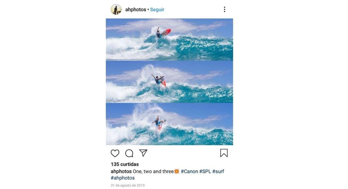 Layout para Instagram: imagem de um posts no Instagram realizado pelo aplicativo Layout.