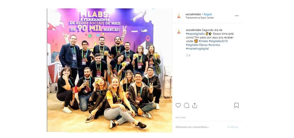 Emoticons para Instagram: imagem de um post no Instagram da mLabs