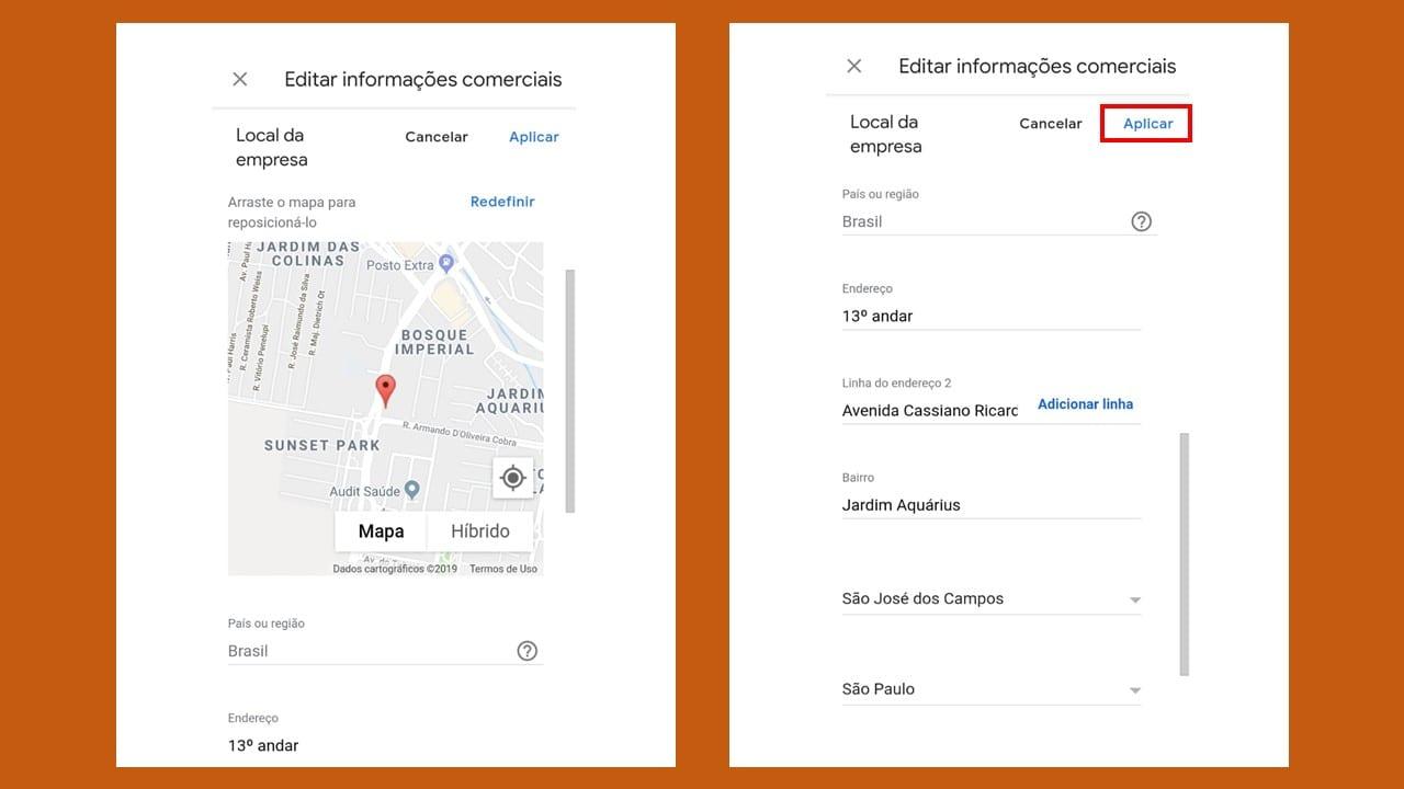 Como alterar endereço no Google Meu Negócio 8