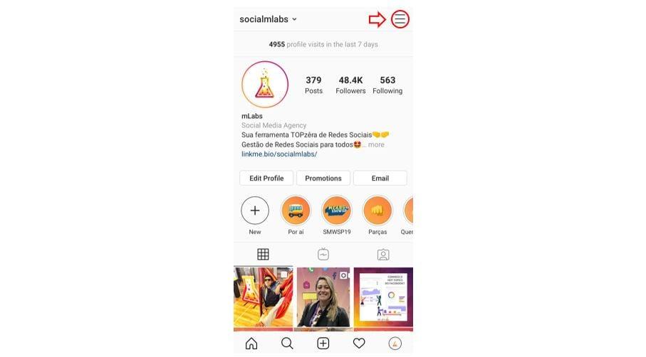Tag de nome no Instagram: imagem do perfil da mLabs do Instagram