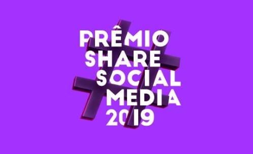 Prêmio Share Social Media: imagem da logo como nome do evento.