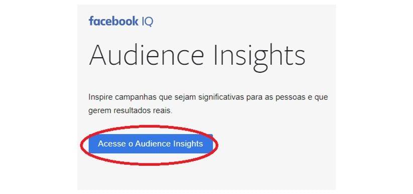 Audience Insights: imagem da tela inicial da ferramenta