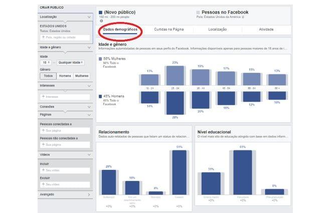 Audience Insights: imagem da ferramenta
