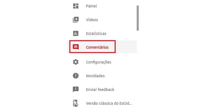 Comentários no YouTube: imagem do Estúdio de Criação do YouTube