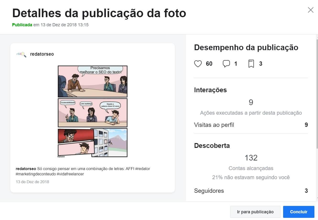 Instagram Creator Studio: imagem da página de criação de conteúdo do Instagram.