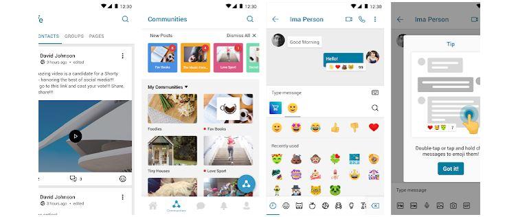 Redes Sociais Novas: imagem da tela inicial do aplicativo MeWe
