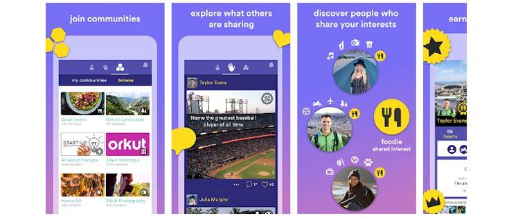 Redes Sociais Novas: imagem da tela inicial do aplicativo Hello