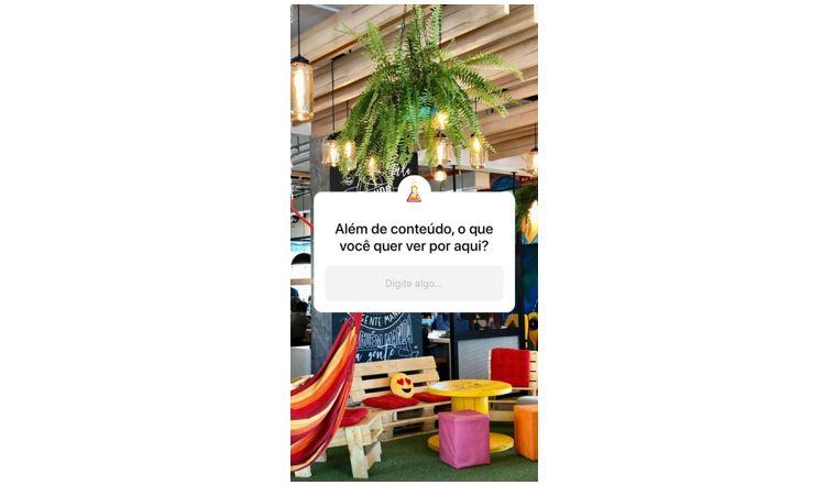 Perguntas no Instagram Stories: imagem de um Story da mLabs com o sticker de perguntas