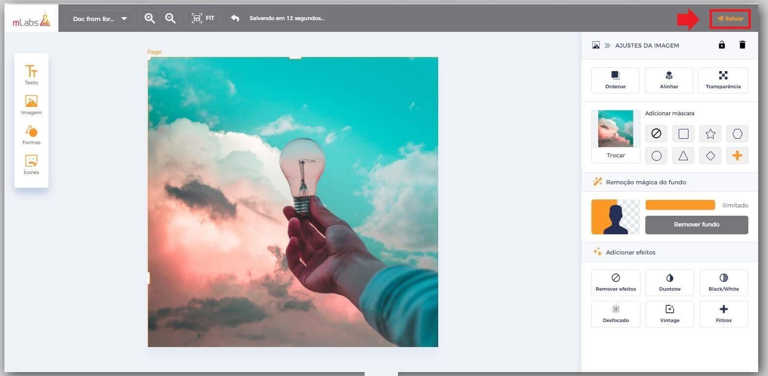 Criar Posts: imagem da tela Studio da mLabs