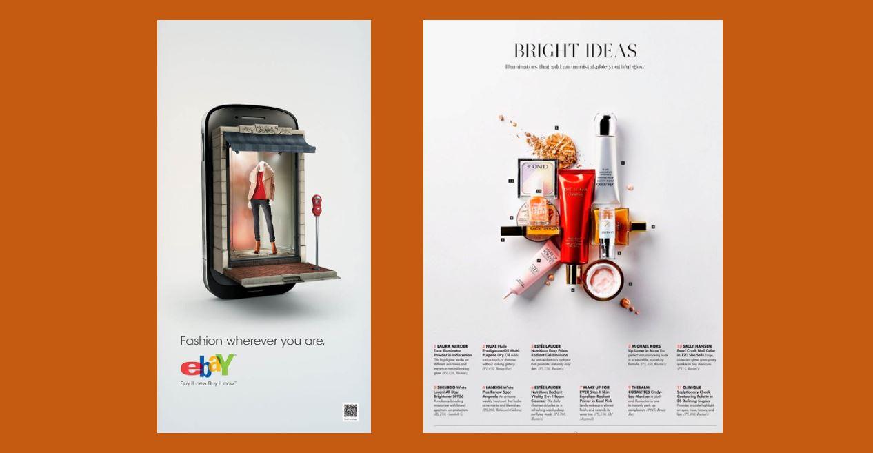 Social Media Design: imagem de dois modelos de espaçamento na imagem