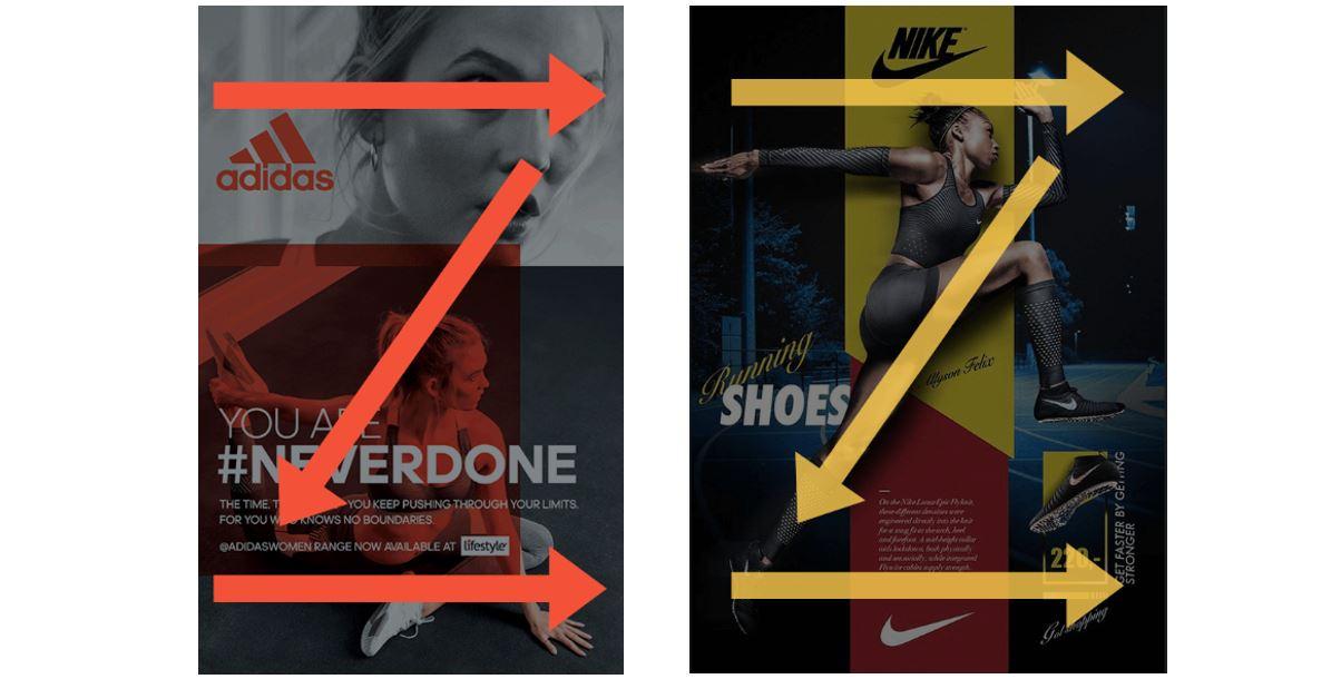 Social Media Design: imagem de dois modelos de direcionamento na imagem
