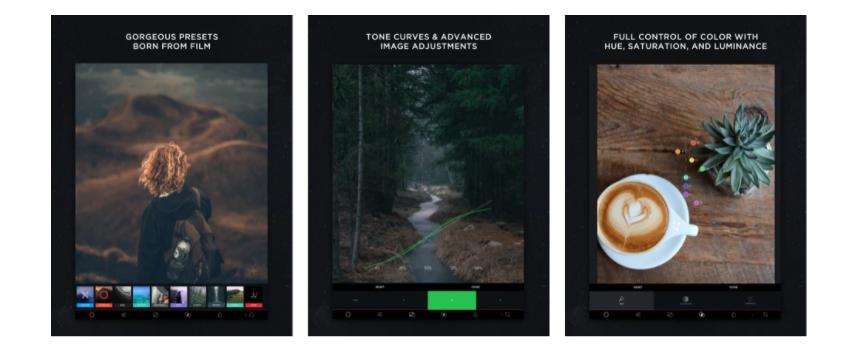 app para criar imagens para instagram: print da propaganda da ferramenta que mostra a diversidade de uso em funcionalidades na qualidade da imagem.