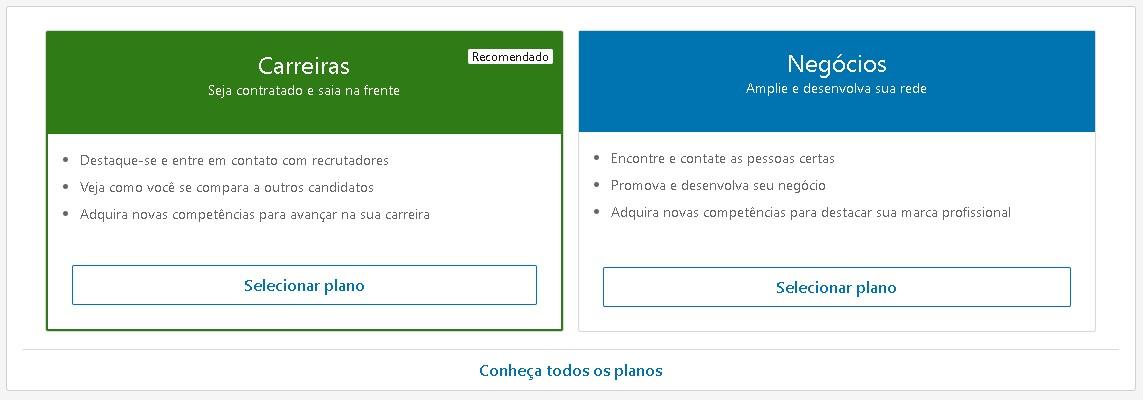 Linkedin Premium: imagem do linkedin com a tela de cadastro
