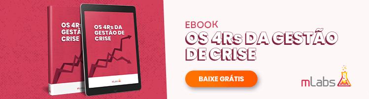 Banner 4rs da gestão de crise: imagem de um tablet com gráfico de crescimento na tela