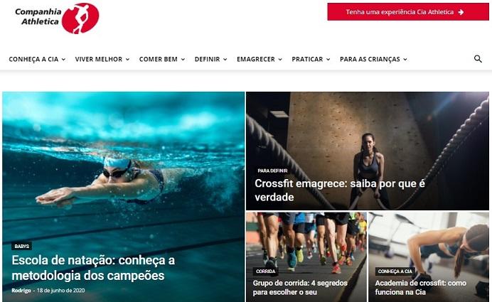 marketing para academia: imagem do blog da academia cia atlética