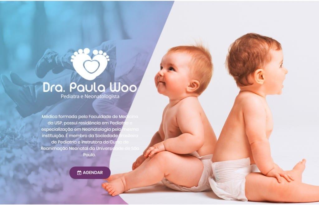 Marketing médico: imagem do site da Dra. Paula Woo