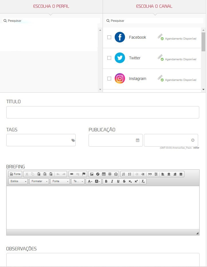 Como usar mLabs: imagem da tela de workflow