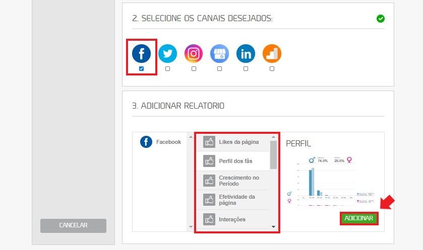 Como usar mLabs: imagem da tela de relatórios