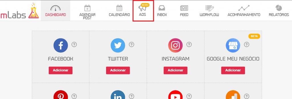 Post patrocinado: imagem da tela inicial da mLabs
