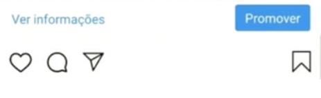 """Post carrossel Instagram: a imagem é um print da tela do celular do aplicativo do Instagram, nesse print temos no canto superior direito escrito """"Ver informações"""" e no extremo oposto um botão azul com os dizeres """"Promover"""" dentro."""