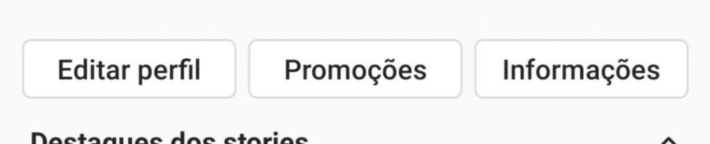como impulsionar no instagram: imagem da tela do instagram indicando onde se localiza o botão promoções