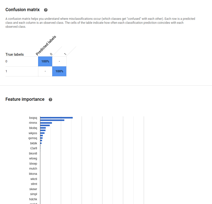 google autoML evaluation