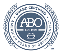 Dr. J.  Todd Hunt is certified by the American Board of Orthodontists