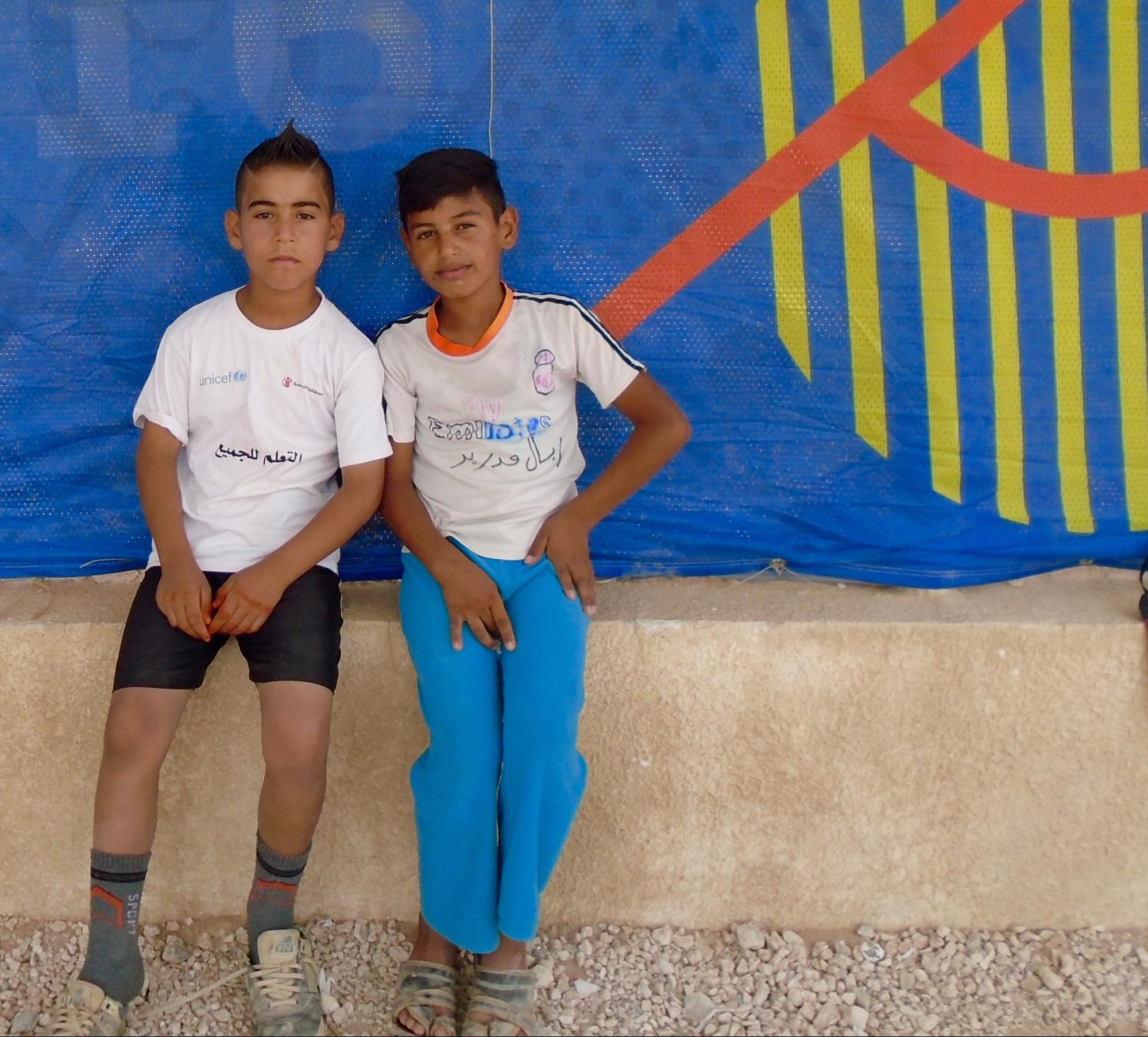 Two Zaatari Refugees