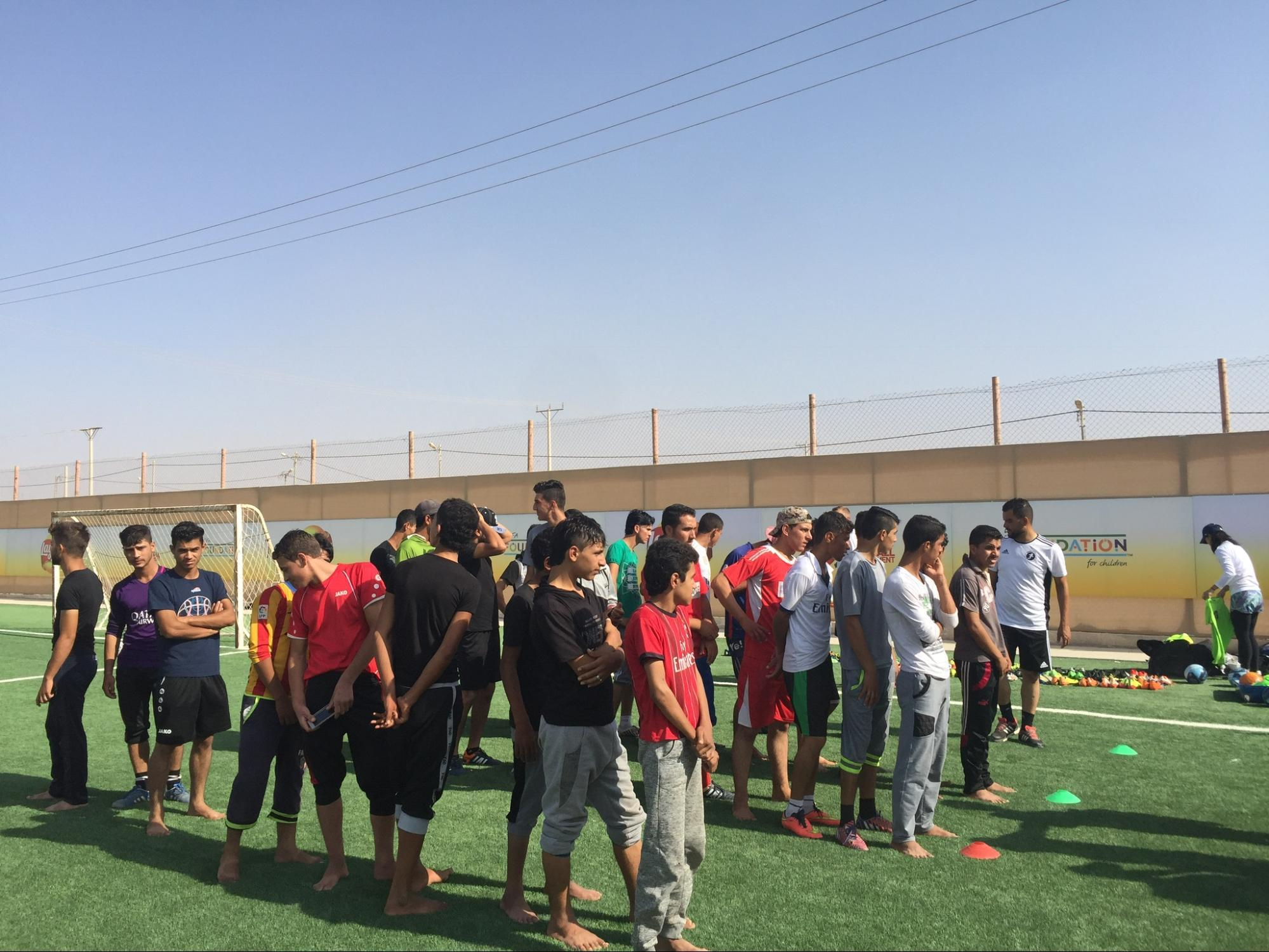 Soccer at Zaatari