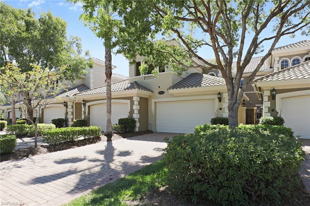 C.14704 - This 2nd floor elevator-ready coach home is spread over 2500 square feet with 3 bedrooms, 3 full bathrooms and a combination kitchen/family room. The spacious west-facing lanai offers great sunsets along with long and wide water views. A/C was installed in 2016. A Water Revolution system is installed in the kitchen for healthy alkalinity drinking water. New garbage disposal. Upgraded Italian soft-close cabinetry. Granite counter tops and stainless steel appliances. Bamboo staircase. Main rooms recently painted and new carpet in bedrooms. Dual walk-in closets in the master bedroom. Meticulously maintained and ready to move in. Fiddler's Creek is the premier development in South Naples. Spread over 3,990 acres offering peace, tranquility, wildlife, optional golf, boating and beach memberships, and 20 miles of bicycling and jogging paths. Clubhouse has 4 pools, 2 restaurants, state-of-the-art fitness center with personal trainers and regular fitness classes, library and business center. There are 2 championship golf courses meandering through Fiddler's Creek with a variety of memberships and fee opportunities. Owner/Agent interest.