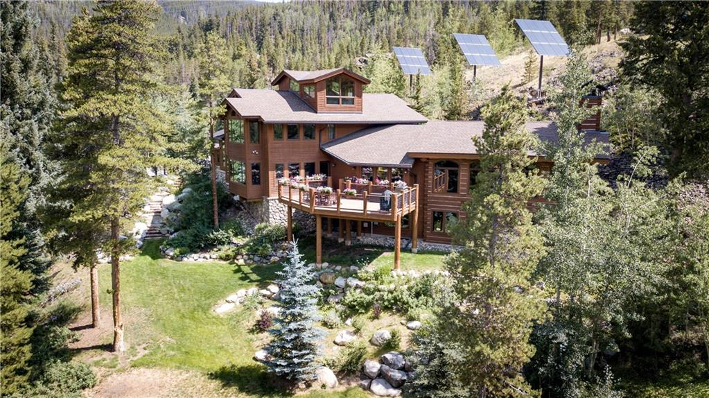 View of this Fabulous Home from the North Fork of the Snake River.   This is a approx..  1.3 acre lot !
