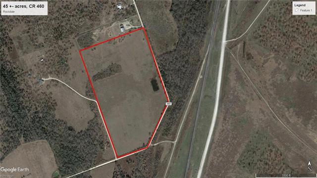 Mostly open pasture with pond. Lots of road frontage.  Will have to have a new survey and sales price will be adjusted at price per acre, currently $7,200/acre.   Southwest Milam Water Supply Corp. water available, buyer will have to do a feasibility study to see if meter can be had.  Owner will convey all owned minerals and keep the water rights.  Deed restrictions:  residential use only, no junk accumulation, new mobile or manufactures homes allowed, only personal farm animals excluding pigs or hogs.