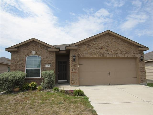 Like New! Single story home north of Georgetown in the growing community of Jarrell. Just 15 minutes to historic Georgetown. It's a short 5 minute walk to Jarrell Elementary. Perfect starter home. Great floor plan, granite kitchen opens to the living area with separate dining, master bedroom with its own bathroom separated from the other two bedrooms. Home very well taken care of, move in ready. Best bang for your buck, one of only 2 homes Built-2015+ ,Sq Ft of 1500+,& less than 190K in all of Williamson.