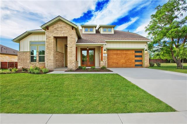 "Historically designed craftsman style custom home in the new Rosemont subdivision. This home features a one of a kind elevation & many custom features including solid wood cabinets, 42"" wide front door, 36"" commercial stove, 8' interior doors w/custom trim, artisan light fixtures, jetted clawfoot tub, designer ceramic tile & wood flooring, foam ins., tankless water heater & propane. Rosemont does not have MUD taxes & is walking distance to an elementary campus. Come experience hometown living at its best!"