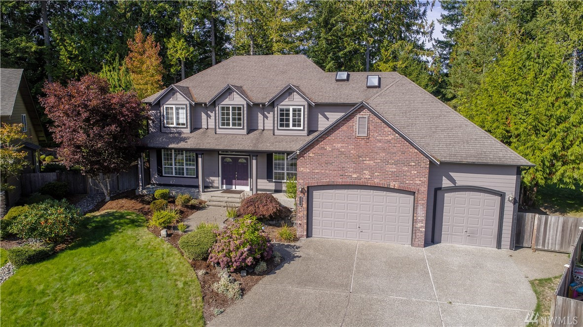 Stunning 5 bedroom home located on a private, fenced .66±ac lot in Cedrona on Olympia's Westside. Spacious floor plan features stained oak floors, chefs kit. w/white cabinets, large island, ss appl, granite counters, walk-in pantry, brkfst nook, Fm. rm w/gas fp, + rec room with tons of built-in storage. Large bedrooms including cool murphy bed, master w/5 piece bath & walk-in closet. Fresh paint & new carpet. Private lot w/expansive patio, big yard and trees. Huge 3 car garage w/storage.