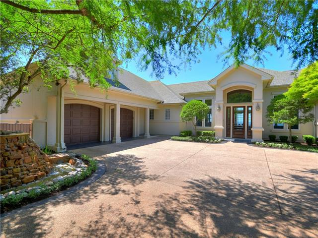 Custom estate on .58 Acre w/panoramic hill country/golf course views. Over 3000 sq ft on main level. Wrap around decks w/180 degree views & screened-in porch. Chef's kitchen w/huge center island, veggie sink, pot & pan drawers, warming drawer & trash compactor. Large formal living areas. Tons of storage. Master Suite w/attached study.  Large laundry/craft room. Original owner. Truly a unique property in River Place!
