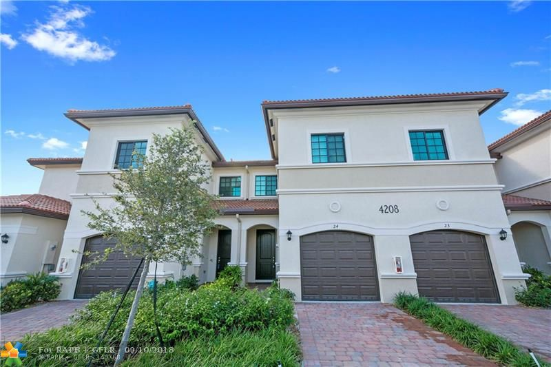 PRICED TO SELL. GREAT OPPORTUNITY! New Construction 2017 Townhome, Impact Windows & Doors, Open Layout, Title Floor on Main Level, Open Patio Facing South & Gardens, Open Kitchen w/Breakfast Bar, Quartz Counter Tops, Espresso Cabinets, SS Appliances. ½ Bathroom on Main Level, Laundry Closet on Upper Level. 1 Car Garage + Driveway. Fenced Community, Pool, Cabana, Playground, Guess Parking. East Dixie Hwy, Near Wilton Manors, Restaurants, Supermarkets, Shops, short ride to Beaches. Pet Friendly. $86/Monthly HOA.